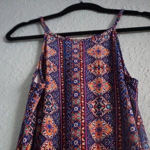 Printed flowy dress